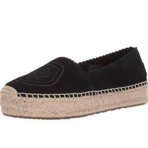 Ugg Heidi Perf espadrille Moccasin. Size 7.5 Black